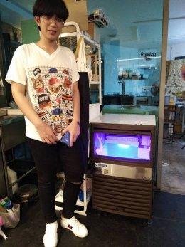 ร้าน Hey coffee เลียบทางด่วนรามอินทรา  ไว้วางใจใช้เครื่องทำน้ำแข็ง GenIce