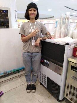 ร้าน Hey coffee สาขาเดอะมอลล์บางกะปิ  ไว้วางใจใช้เครื่องทำน้ำแข็ง GenIce