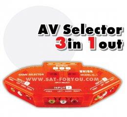 AV Selector 3ways (เข้า3 ออก1)