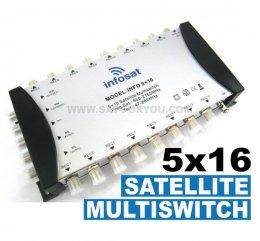 Multi Switch 5x16 INFOSAT (เข้า5ออก16)