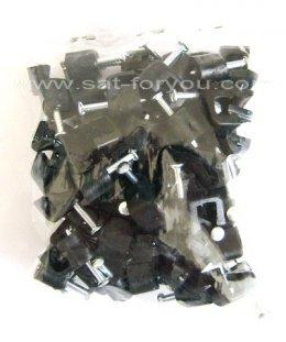 กิ๊บตอกสาย RG6 ถุงเล็ก 50ตัว สีดำ