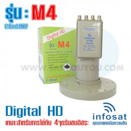 LNB-C BAND INFOSAT 4output รุ่นใหม่