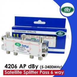 Satellite Splitter dBy All Pass 6 way