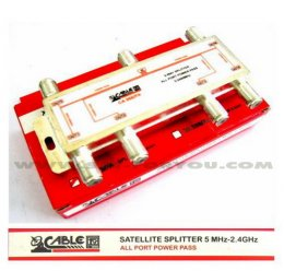Satellite Splitter CABLE All Pass 6 way