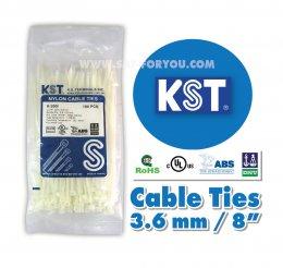 Nylon Cable Ties KST สีขาว ยาว8นิ้ว