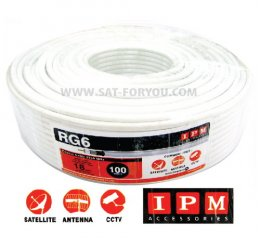 สายRG6 IPM 64% 100ม. สีขาว