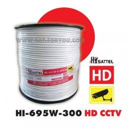 สายRG6 HISATTEL 95%300ม. สีขาว HD