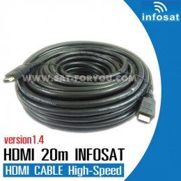 สายHDMI INFOSAT 20m V1.4 Hi-Speed