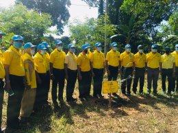 เข้าร่วมปลูกต้นไม้ตามโครงการปลูกป่าและป้องกันไฟป่า
