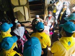 ลงพื้นเยี่ยมผู้ป่วยติดเตียง ในโครงการช่วยเหลือประชาชนเพื่อถวายพระบาทสมเด็จพระเจ้าอยู่หัว รัชกาลที่ 10