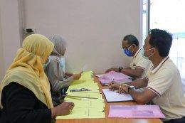 บรรยากาศการรับสมัคร รับเลือกตั้งนายกเทศมนตรีและสมาชิกสภาเทศบาลตำบลท่าสาป