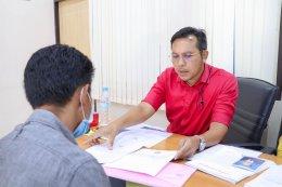 บรรยากาศการสมัครรับเลือกตั้งนายกเทศมนตรีและสมาชิกสภาเทศบาลตำบลท่าสาป ในช่วงเช้าวันที่ 11 กุมภาพันธ์ 2564