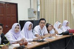 วิทยาลัยชุมชนยะลานำนักศึกษาสาขาวิชาการสาธารณสุขชุมชน ฝึกปฏิบัติเก็บข้อมูลด้านสุขภาพ
