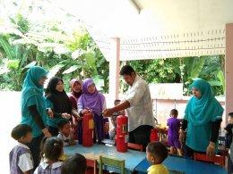 ซักซ้อมแผนป้องกันอัคคีภัย ณ ศูนย์พัฒนาเด็กเล็กนูรุลฮูดา