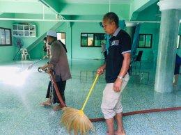 ทำความสะอาดมัสยิดลิมุด หมู่ที่ 3 ตำบลท่าสาป