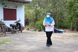 งพื้นที่ ณ บ้านกำปั่น บ้านสาคอ ตำบลท่าสาป เพื่อทำความสะอาดและพ่นยาฆ่าเชื้อเพื่อป้องกันไวรัสโคโรน่า (COVID-19)