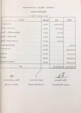 รายงานผลงบการเงินประจำปี 2560