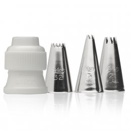 381 Ateco 4 PIECE STAR TUBE SET