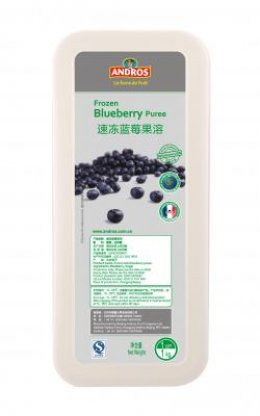Andros Frozen Puree: Blueberry 1 kg
