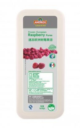 Andros Frozen Puree: Raspberry 1 kg