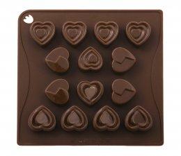 CHOCO03 Pavoni BROWN CHOCO PRALINES: HEART