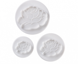 N03002 Pavoni SPECIAL DAY DOUGH CUTTER: ROSE 3 PCS