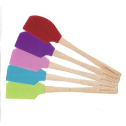 Pavoni WOOD HANDLE SPATULA: GREEN