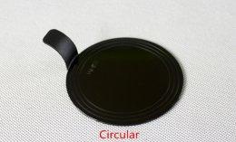 BG-078 แผ่นรองเค้กกลม พลาสติก ดำ 7.8 cm@100