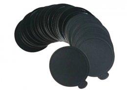 PG-022-Black แผ่นรองเค้กกลม ดำ 9 cm@100