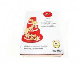 น้ำตาลคลุมเค้ก ตราลิน สีแดง 750 กรัม