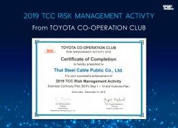 2019 TCC Risk Management  Activity