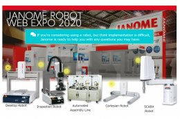 Janome Industrial Robot Web Expo is now underway