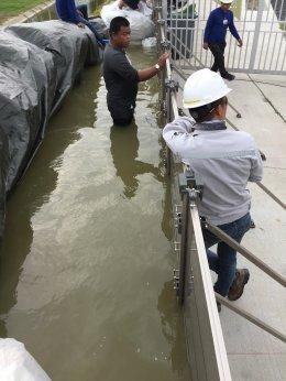 การทดลองกั้นน้ำ