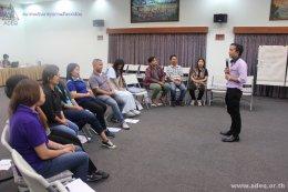 การประชุมถอดบทเรียนการดำเนินงานพัฒนาสถานประกอบการสุขภาพดีมีสุข