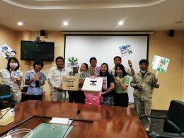 """ทีมงานโครงการส่งเสริมฯ เยี่ยมชมโครงการ """"TNS Better Health Better Wellness (โครงการสุขภาพดี ทีเอ็นเอส มีสุข)"""" ที่บริษัทไทยนิปปอนฯ จังหวัดฉะเชิงเทรา"""