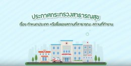 ประกาศกระทรวงสาธารณสุข 2562 เรื่องสถานที่ปลอดบุหรี่