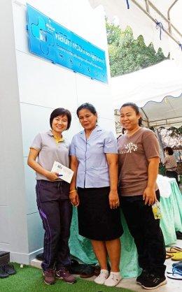 ทีมงานโครงการสถานประกอบการสุขภาพดีมีสุขร่วมทำบุญเปิดอาคาร ณ รพ.สต.บ้านสามพราน