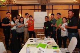 """กิจกรรมฝึกอบรม """"พัฒนาศักยภาพคณะทำงานขับเคลื่อนสถานประกอบการสร้างเสริมสุขภาพ (Training for Healthy Enterprise Trainers)"""""""