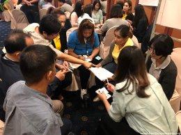การจัดประชุมชี้แจงแนวทางการรับงบประมาณสนับสนุนการดำเนินงาน  เพื่อพัฒนาเป็นสถานประกอบการสุขภาพดีมีสุข