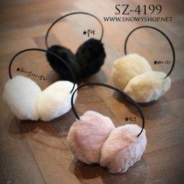 [พร้อมส่ง] [SZ-4199] SZ++หูกันหนาว++หูกันหนาวสีดำขนเฟอร์