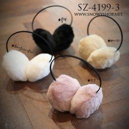 [[*พร้อมส่ง]] [SZ-4199-3] SZ++หูกันหนาว++หูกันหนาวสีชมพูขนเฟอร์
