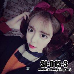 [*พร้อมส่ง] [Si-013-3] Ear Muff หูกันหนาวขนกระต่ายสีม่วงแบบที่คาดโบว์น่ารักมากๆ