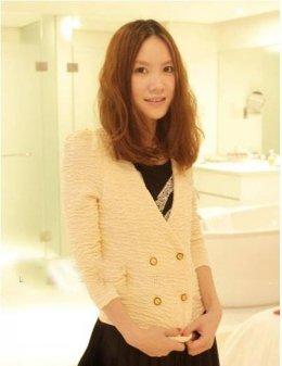 [[พร้อมส่ง]] [Yo-008] Yo++เสื้อ++เสื้อสูทแขนยาวสีขาว สไตล์เกาหลี ติดกระดุมทองหน้าสวยๆค่ะ