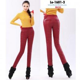 [พร้อมส่งS,M,L,XL] [Le-1601-3] กางเกงใส่เล่นหิมะสีแดงของผู้หญิง เอวยืด ใส่กันหนาวติดลบได้ค่ะ