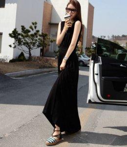 [[*พร้อมส่ง F]] [SZ-9788] Style By SZ++แม๊กซี่เดรส++แม๊กซี่เดรสสีดำชุดยาวผ้าใส่สบายๆ