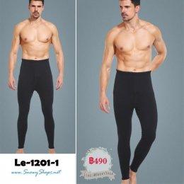 [พร้อมส่ง] [Le-1201-1] กางเกงลองจอนกันหนาวสีน้ำเงินนาวี ซับขนกันหนาว ใส่ไว้ข้างในกันหนาวดีมาก