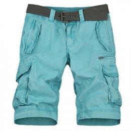 [[*พร้อมส่ง 38,40]] [Ma-002] Mr.Mian ++กางเกง++ กางเกงขาสั้นสีฟ้า