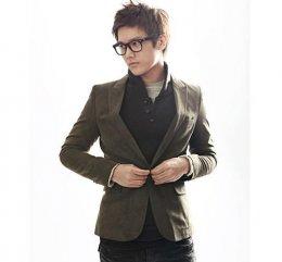 [พร้อมส่ง XL] [Tp-039] Tp++เสื้อสูท++เสื้อสูทผู้ชายน้ำตาล