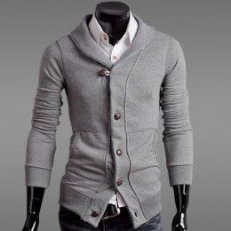 [[พร้อมส่ง 2XL]] [Tp-052] Tp++เสื้อกันหนาว++เสื้อกันหนาวสีเทาอ่อน
