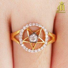 แหวนเพชรเพนทาเคิล เนื้อทองคำแท้